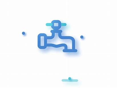 Tap Water Drop Animation Dribbble Save Vector