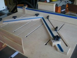 tenon jig table  sled table  woodworking