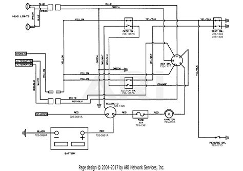 2002 Mtd Wiring Diagram by Mtd 14bj845h062 2002 Parts Diagram For Electrical