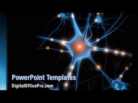 nerve cell powerpoint template backgrounds
