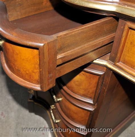 bureau large large empire desk bureau plat furniture walnut