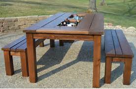 Make Outdoor Wood Table by Gallery For Wooden Outdoor Table