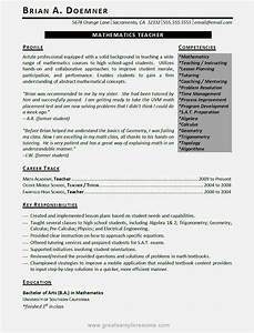 examples of good teacher resumes resume template With good teacher resume