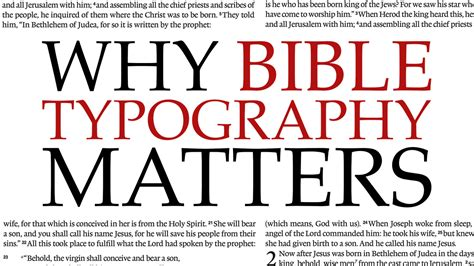 why bible typography matters by faith we understand