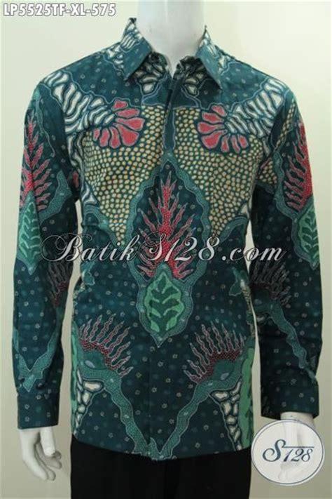 baju batik kemeja lengan panjang premium warna hijau