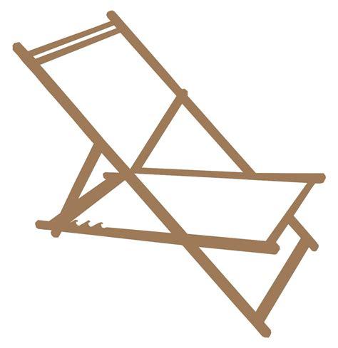 chaise longue en bois et toile transat bois