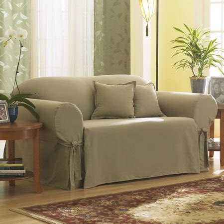 Loveseat Cover Walmart by Sure Fit Cotton Duck Sofa Slipcover Walmart