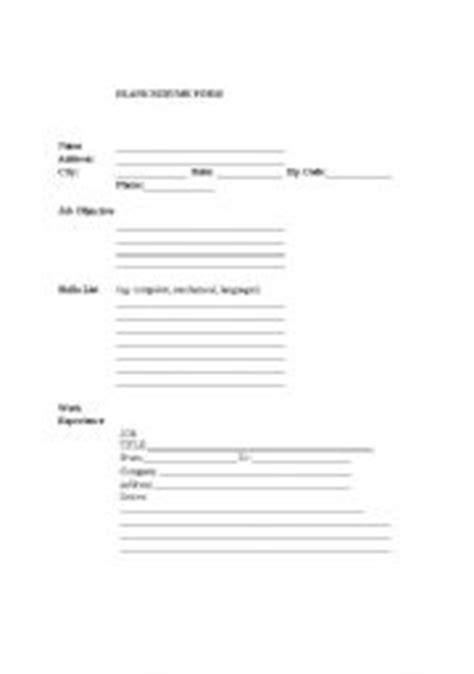 Resume Fill In Sheet by 13 Best Images Of Simple Resume Worksheet College Brag