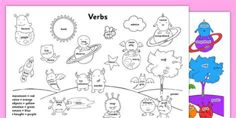 verbs coloring sheet verbs coloring sheet coloring
