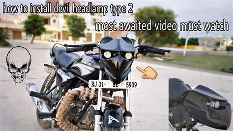 How To Install Devil Headlamp Type 2 In Splendor + & All