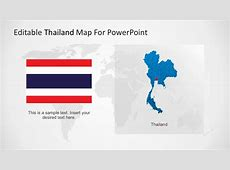 Editable Map of Thailand PowerPoint SlideModel