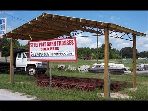 Steel Pole Barn Kits by How To Square A Steel Truss Pole Barn Kit