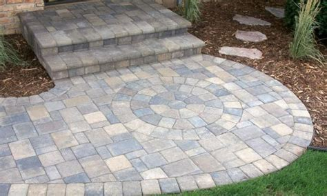 Patio block patterns, paver walkway design ideas front
