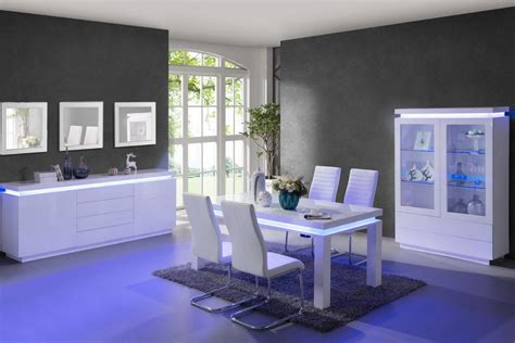 indogate table salle a manger gris clair