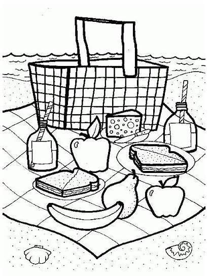 Picnic Crafts Coloring Basket Pages Preschool Theme