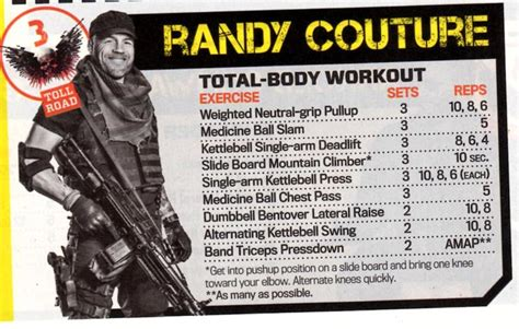 randy couture workout body lean expendables workouts total mean amap many