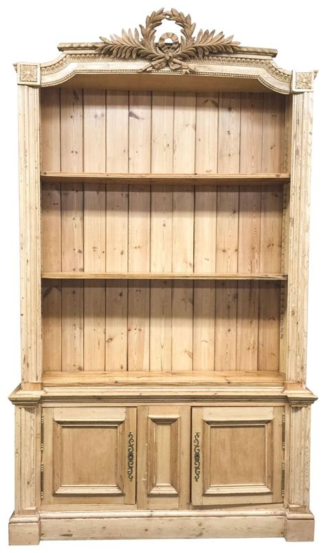 important   building  pine bookcase
