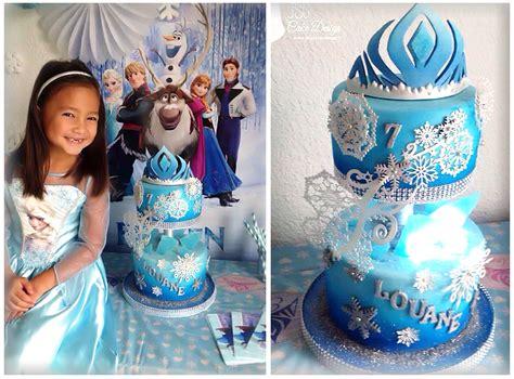 cake reine des neiges en  gateau reine des neiges