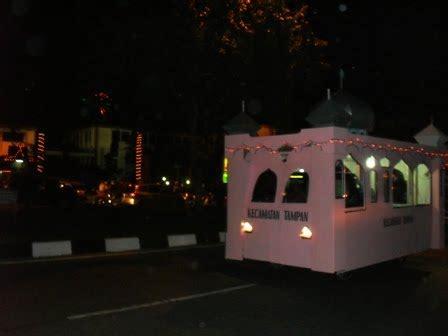 suasana malam takbiran  kota pekanbaru