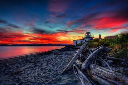 Lighthouse Sunset Dark Wallpapers Lighthouses Point West