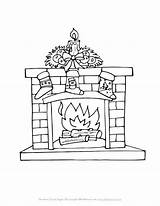 Fireplace Christmas Coloring Drawing Pages Stockings Printable Tree Fireplaces Trees Drawings Easy Allkidsnetwork Winter Printables Paintingvalley Sheets Explore sketch template