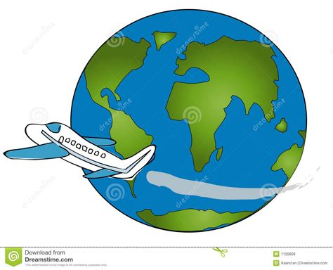 travel around the world clipart