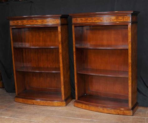Ebay Bookcases by Pair Regency Bookcases Open Front Bookcase Marquetry Inlay