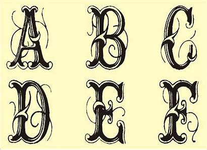 Monogram Stencil Stencils Printable Alphabet Fancy Template
