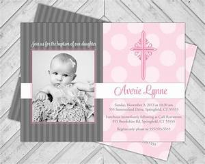 Baby Girl Baptism Invitations : Baby Girl Christening ...