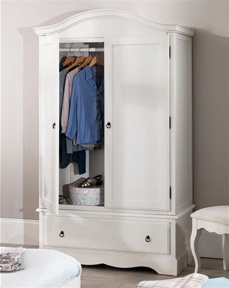 Small White Wooden Wardrobe by Wardrobe Bedroom Furniture Direct