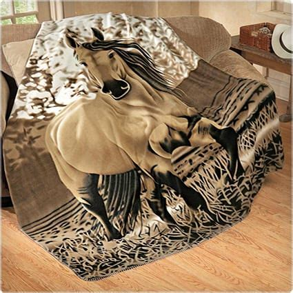 horse throw lovers gift gifts fleece galloping unique equestrians dodoburd
