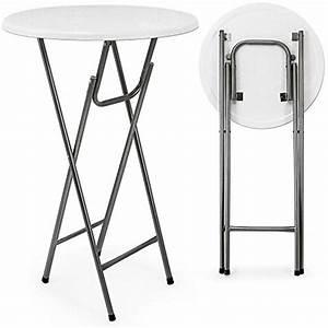 Table Bistrot Pliante : table haute pliable table de bar bistrot pliante en mdf blanc avec d ~ Teatrodelosmanantiales.com Idées de Décoration