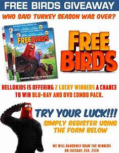 Kids online Giveaways & prizes - FreeBirds Blu-Ray DVD ...