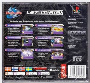 PLAYSTATION 1 BEYBLADE LET IT RIP PAL PS1 BEY BLADE BRAND ...