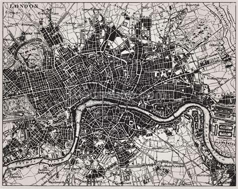 historical map  london wallpaper mural wallsauce
