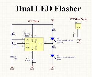 Circuit Planning  Create A Dual Flashing Led Circuit On