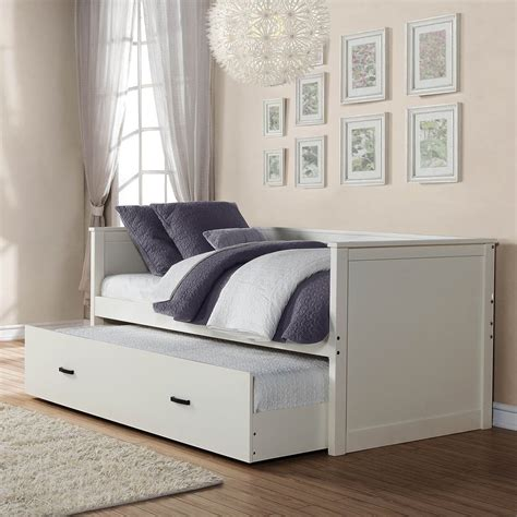 daybeds for white daybeds with trundle buy homelegance clover daybed w