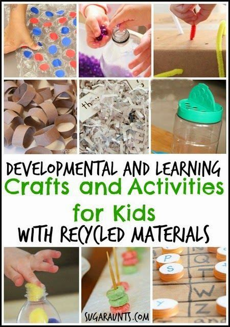 recycled materials crafts and activities for kids home