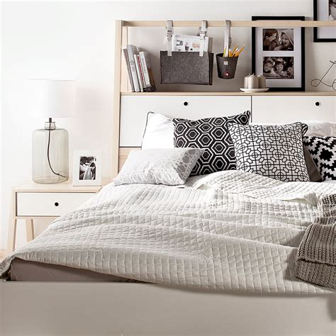 Spot Double Bed Incl Storage Headboard By Vox Clever