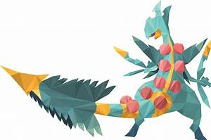 Shiny Mega Sceptile (Low Poly Art) by Corrupt-VoidLich on ...