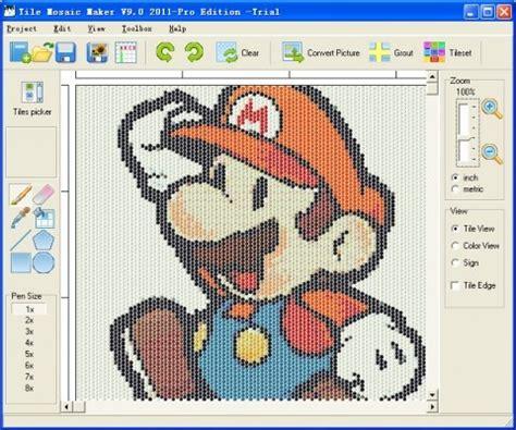 tile bottle cap mosaic design software artsy