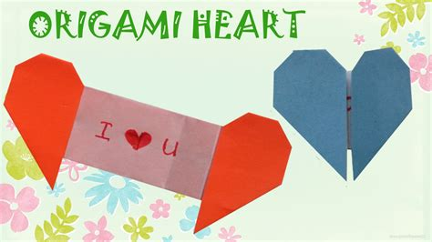 origami heart  message origami easy youtube