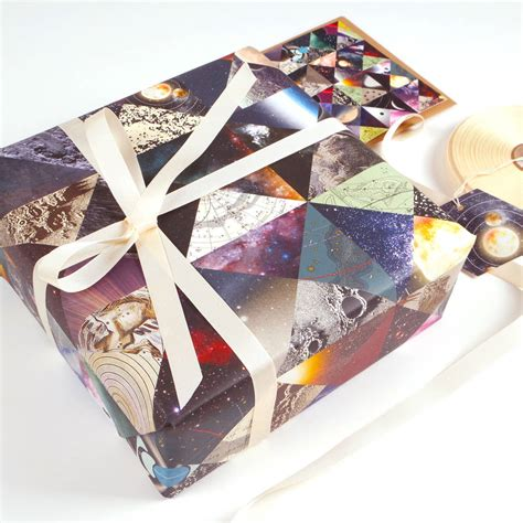 Constellation Space Luxury Gift Wrapping Paper By Bombus