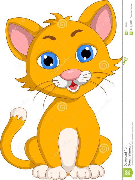 Cute Cat Cartoon Expression Stock Image  Image 31132111