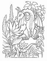Coloring Dragon Pages Detailed Popular Designs Patterns sketch template