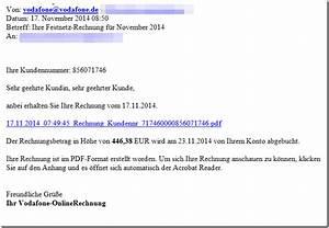 Vodafone Rechnung Ausdrucken : trojaner warnung anbei erhalten sie ihre rechnung vom vodafone 1 1 telekom ~ Themetempest.com Abrechnung