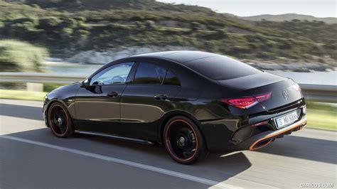 Elektryczne szyby przednie, elektrycznie ustawiane lusterka, elektryczne szyby przednie, poduszka powietrzna kierowcy, elektryczne szyby przednie, elektrycznie ustawiane lusterka. 2020 Mercedes-Benz CLA 250 Coupe Edition Orange Art AMG Line (Color: Cosmos Black) - Rear Three ...