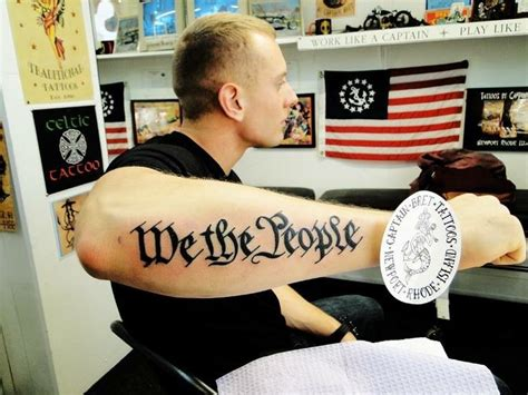 people declaration  independence tattoo