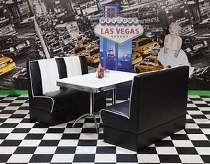 American Diner Zubehör : bankgruppe vegas king 4 american diner 50er jahre retro 3 teilig schwarz wei ebay ~ Sanjose-hotels-ca.com Haus und Dekorationen