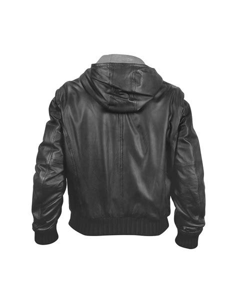 lyst forzieri mens black leather hooded jacket  black